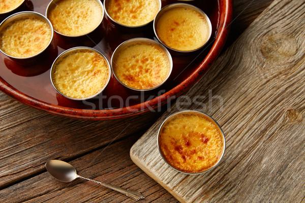 Crema pasticcera dessert forno cotto alimentare Foto d'archivio © lunamarina