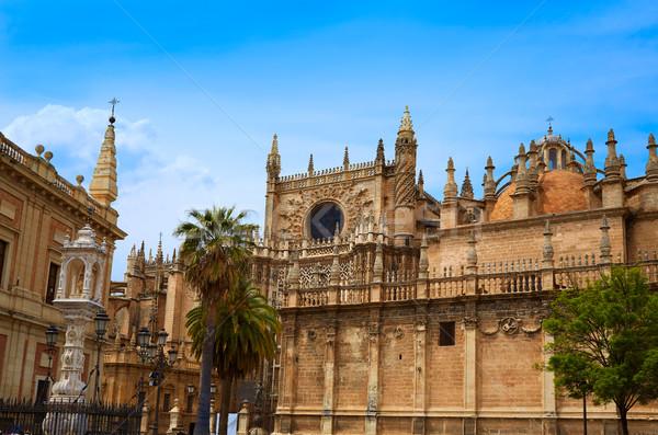 Seville cathedral and Archivo Indias Sevilla Stock photo © lunamarina