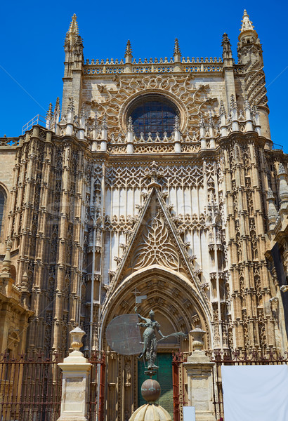 Seville cathedral Saint Christopher door Sevilla Stock photo © lunamarina