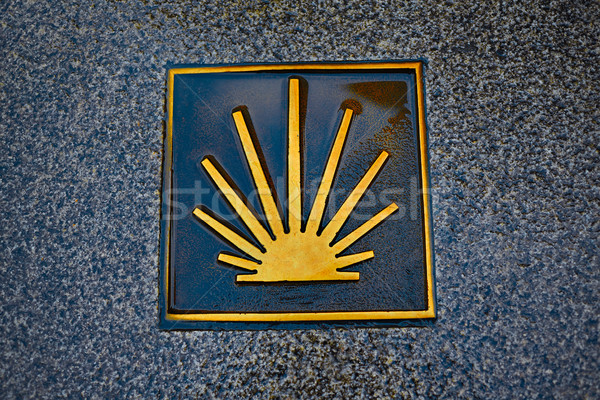 Saint James Way sign in Zamora Spain Stock photo © lunamarina
