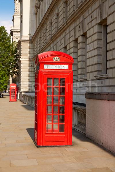 Londres vieux rouge téléphone boîte Angleterre Photo stock © lunamarina