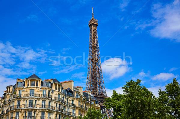 Эйфелева башня Париж Франция небе здании город Сток-фото © lunamarina