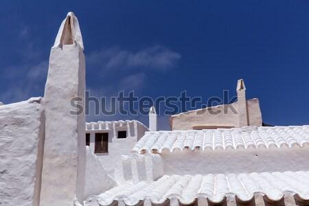 古代 白 塩 風車 ミル 島々 ストックフォト © lunamarina