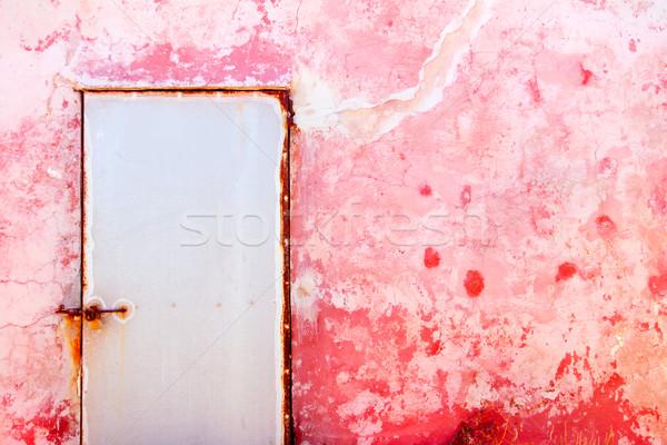 Roze middellandse zee grunge textuur deur muur Stockfoto © lunamarina