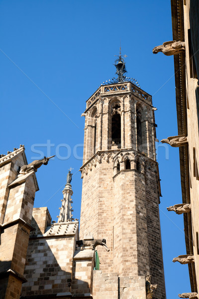 Cathedral of Barcelona Seu Seo Stock photo © lunamarina