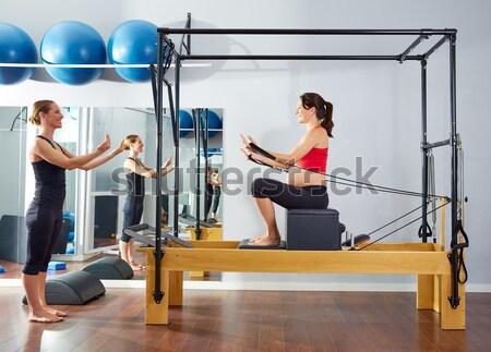 пилатес инструктор женщину фитнес осуществлять Сток-фото © lunamarina