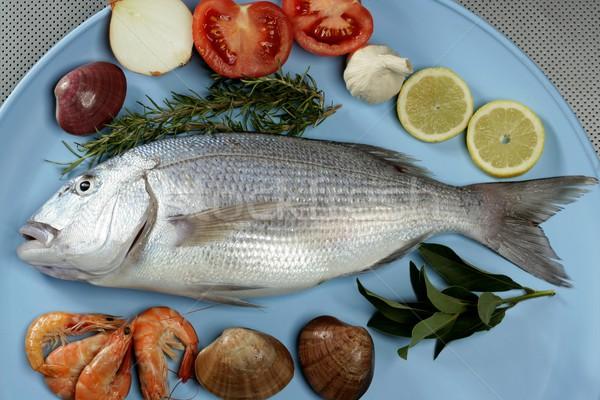 Mediterraneo pesce famiglia occhi cucina Ocean Foto d'archivio © lunamarina