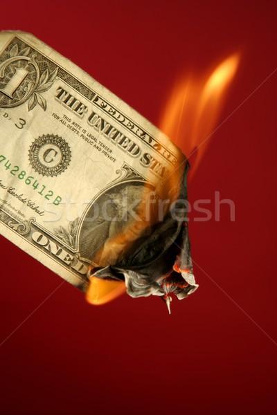 Сток-фото: доллара · сведению · сжигание · огня · красный · американский