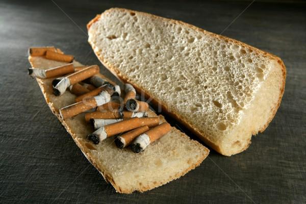 табак хлеб сэндвич меню сигарету зависимость Сток-фото © lunamarina