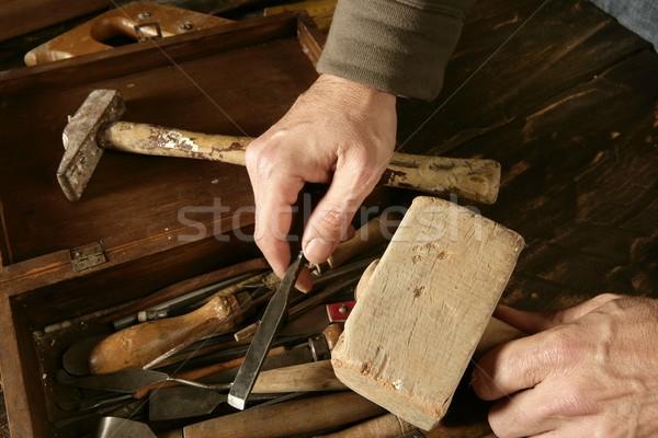 craftman carpenter hand tools artist Stock photo © lunamarina