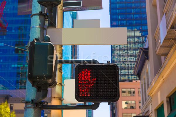 San Francisco downtown redlight on 1st street in California Stock photo © lunamarina
