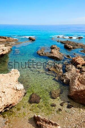 Las Rotas beach Denia in Alicante Mediterranean Spain Stock photo © lunamarina