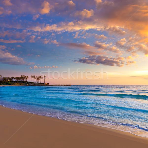 Javea El Arenal beach sunrise Mediterranean Spain Stock photo © lunamarina