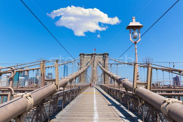 Ponte manhattan New York City escritório edifício urbano Foto stock © lunamarina
