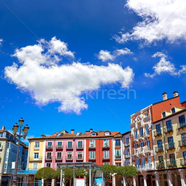 Burgos Plaza Mayor square in Castilla Leon Spain Stock photo © lunamarina