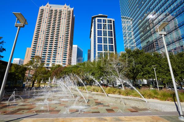Houston Entdeckung grünen Park Innenstadt Texas Stock foto © lunamarina