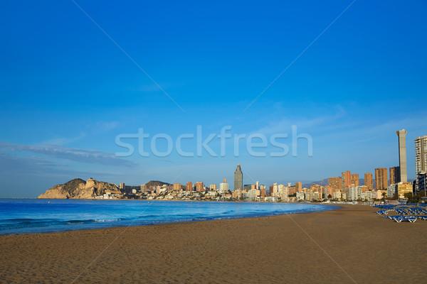Stok fotoğraf: Plaj · İspanya · akdeniz · gökyüzü · su · güneş
