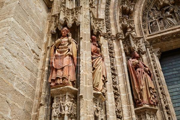 大聖堂 スペイン 市 旅行 石 ストックフォト © lunamarina