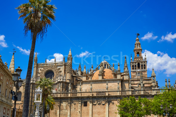 Seville cathedral and Archivo Indias Sevilla Stock photo © lunamarina