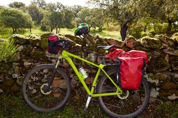 Zarándok bicikli LA út Spanyolország természet Stock fotó © lunamarina