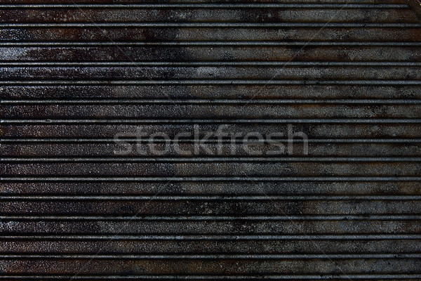 Cast iron grill black steel texture Stock photo © lunamarina
