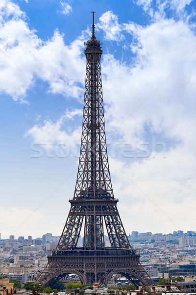 Париж Эйфелева башня Skyline антенна Франция Сток-фото © lunamarina