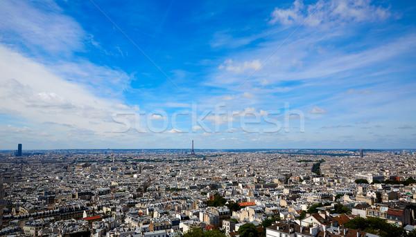Париж Skyline антенна Монмартр Франция небе Сток-фото © lunamarina