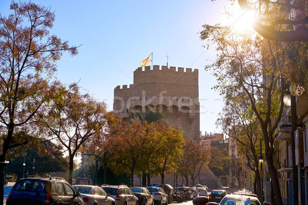 Serrano Valence vieux ville porte Photo stock © lunamarina