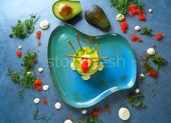 Shrimp Tartare with avocado Peruvian style Stock photo © lunamarina