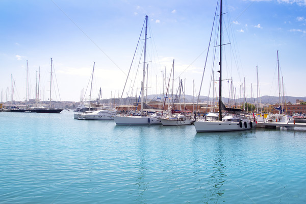 Marina port in Palma de Mallorca at Balearic Islands Stock photo © lunamarina