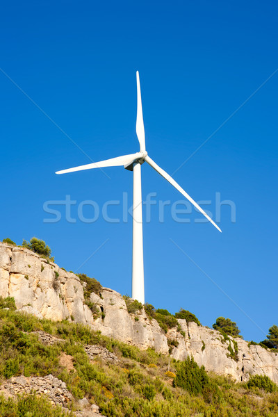 aerogenerator windmill in rocky mountain Stock photo © lunamarina