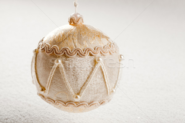 christmas velvet bauble luxury style on snow Stock photo © lunamarina