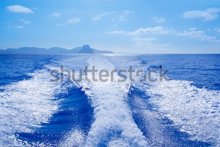Denia alicante nas Mongo mountain view from sea Stock photo © lunamarina