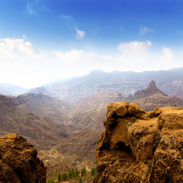 Gran canaria La culata view from Roque Nublo Stock photo © lunamarina