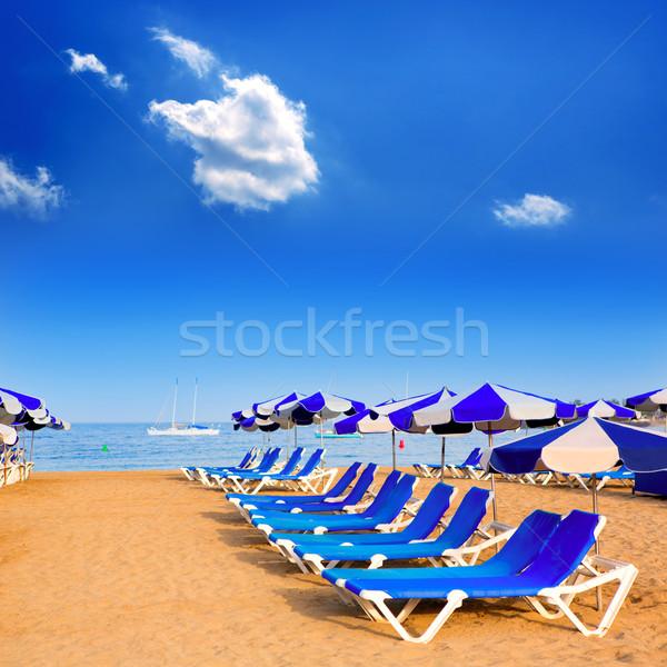 Beach Las vistas in Adeje Arona at Tenerife south Stock photo © lunamarina