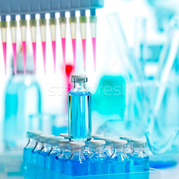 Chemical scientific laboratory multi channel pipette Stock photo © lunamarina