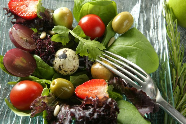 Varied salad with fruits and vegetables Stock photo © lunamarina