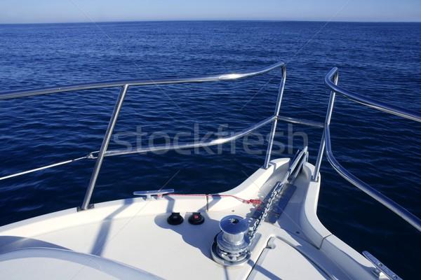 ボート 弓 休暇 青 海 白 ストックフォト © lunamarina