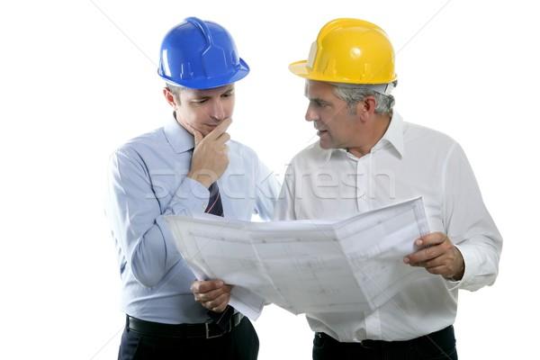 Stock fotó: Mérnök · építész · kettő · szakértelem · csapat · terv