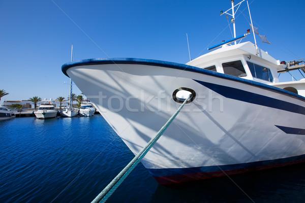 Formentera marina trawler fishing boats Stock photo © lunamarina