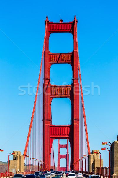 Golden Gate Bridge tráfego San Francisco Califórnia EUA céu Foto stock © lunamarina
