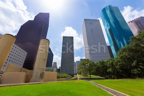 Houston skyline park Texas hemel Stockfoto © lunamarina