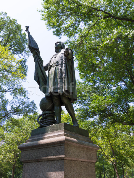 Central Park Christopher Columbus statue Stock photo © lunamarina