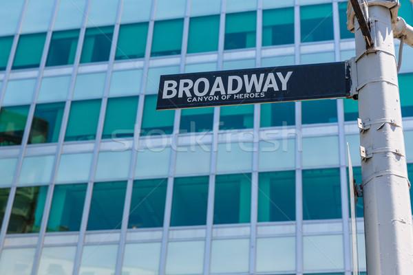Broadway placa de rua manhattan Nova Iorque EUA baixar Foto stock © lunamarina