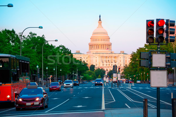 Capitol sunset congress Washington DC Stock photo © lunamarina