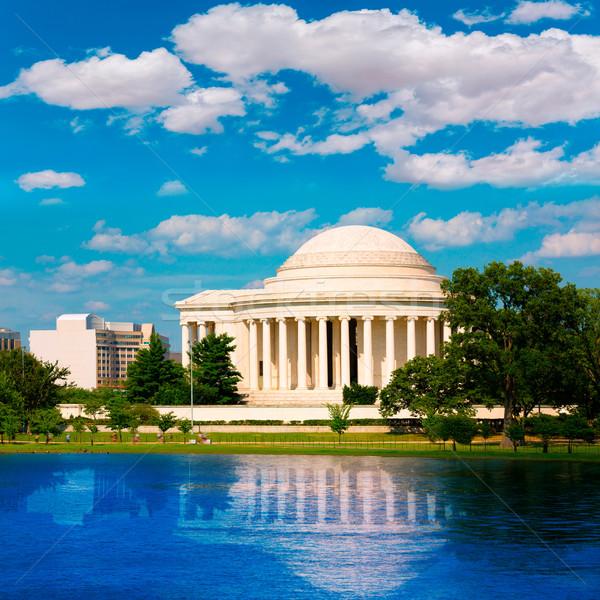 Stok fotoğraf: Washington · DC · ABD · gökyüzü · Bina · şehir · mavi