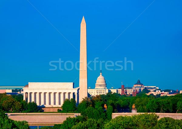 Washington Monument Capitol and Lincoln memorial Stock photo © lunamarina