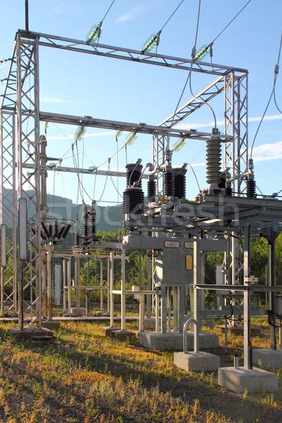 Elétrico transformador estação pequeno aldeia tamanho Foto stock © lunamarina