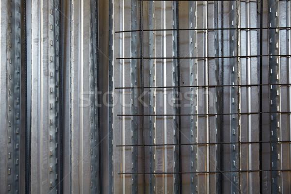 reinforced concrete slab sheet metal formwork Stock photo © lunamarina