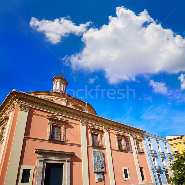 Walencja bazylika kościoła budynku miasta lata Zdjęcia stock © lunamarina